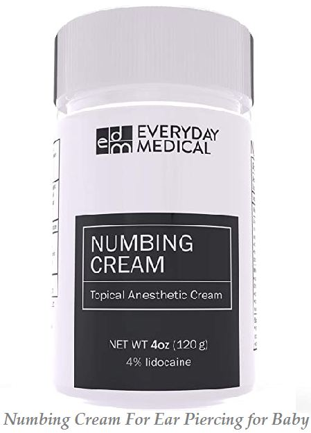 numbing cream for ear piercing for baby