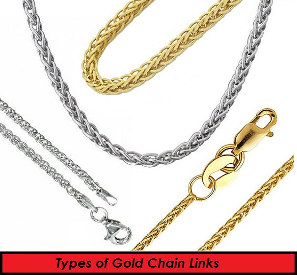 types of gold chain links
