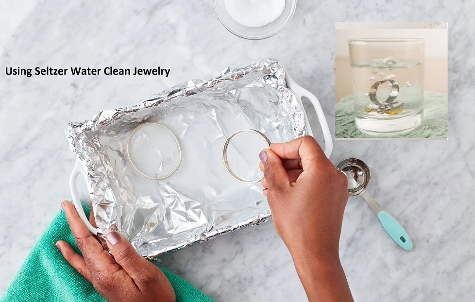Using seltzer water clean jewelry