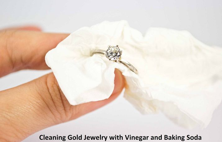 cleaning gold jewelry with vinegar and baking soda