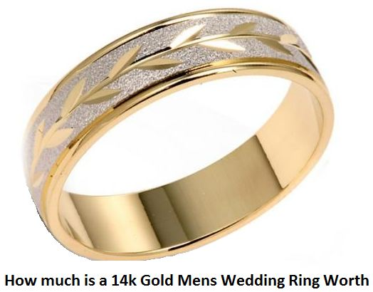 how much is a 14k gold mens wedding ring worth