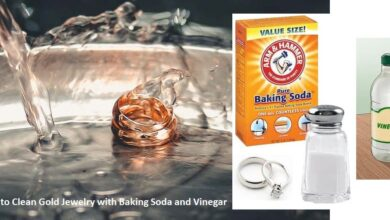 how to clean gold jewelry with baking soda and vinegar