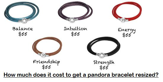 How much does it cost to get a pandora bracelet resized