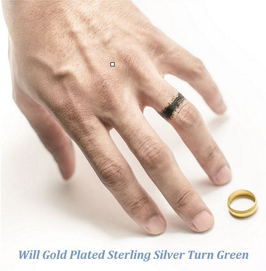 Will gold plated sterling silver turn green
