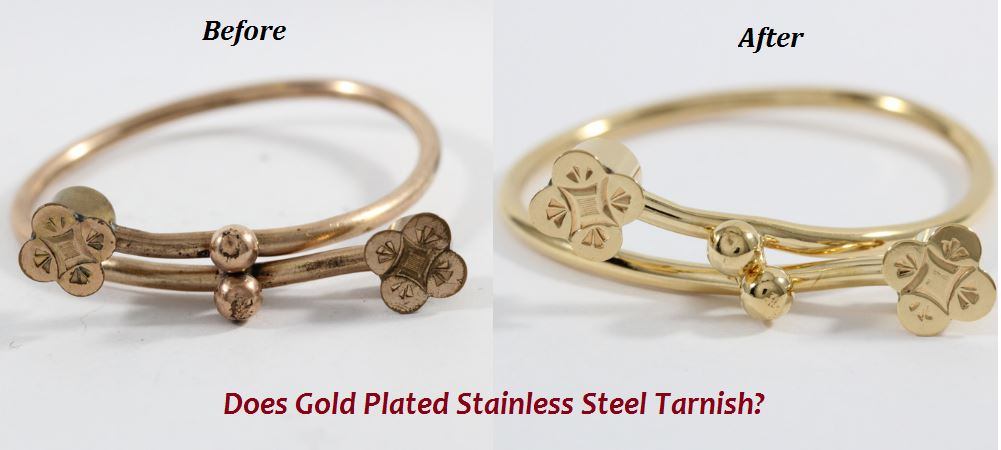 does gold plated stainless steel tarnish.