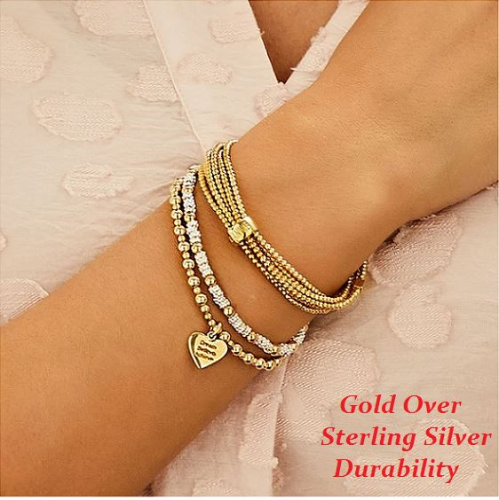 gold over sterling silver durability