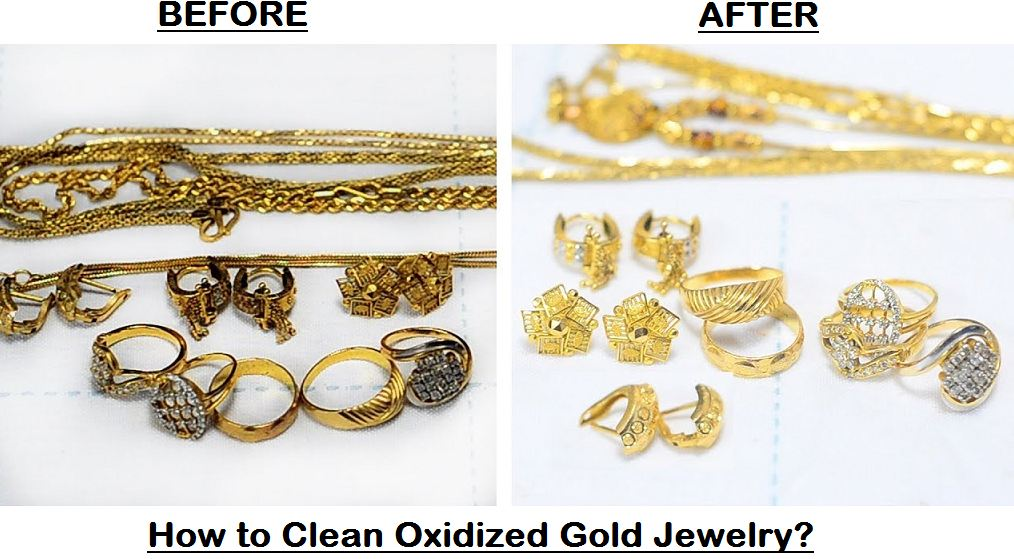 how to clean oxidized gold jewelry
