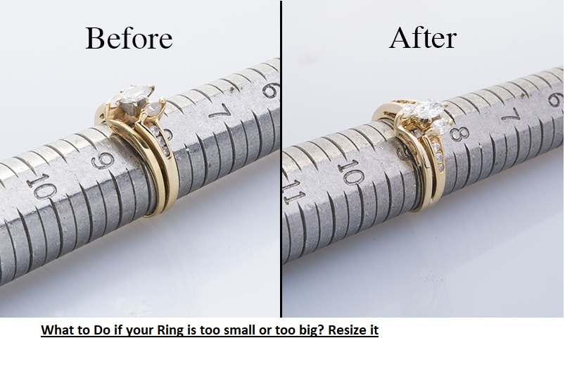 ring is too small or too big? Resize it!