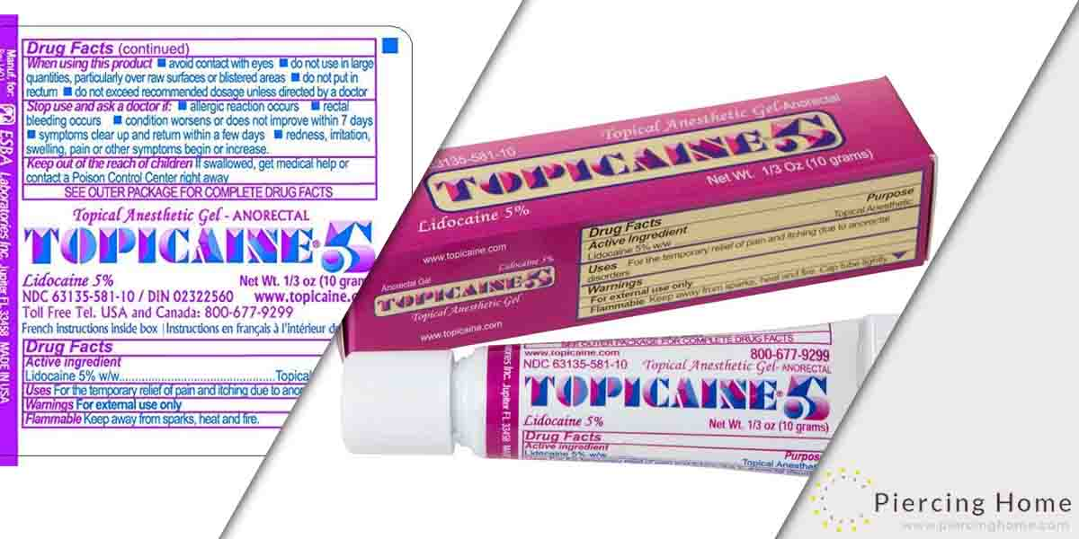Tropicaine 5- Lidocaine Anesthetic Anorectal Numbing Gel