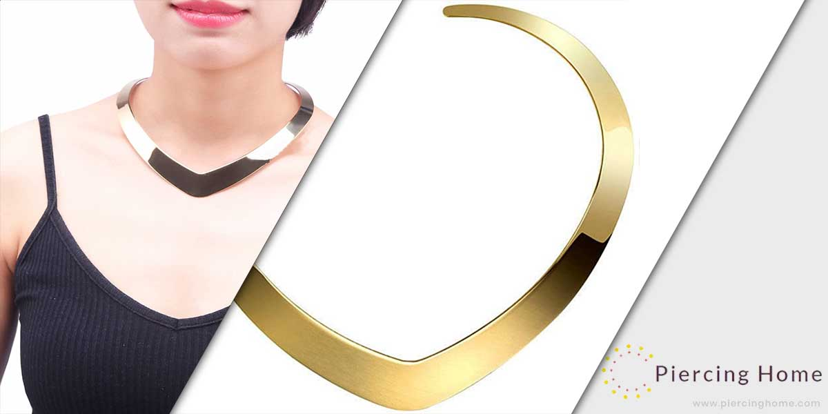 High Polished Stainless Steel Necklace Love Choker