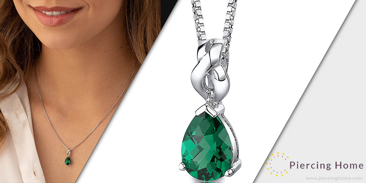 Peora Sterling Silver Pendant Necklace for Women