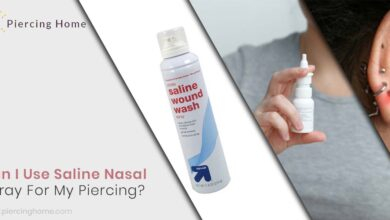 Can I Use Saline Nasal Spray For My Piercing?