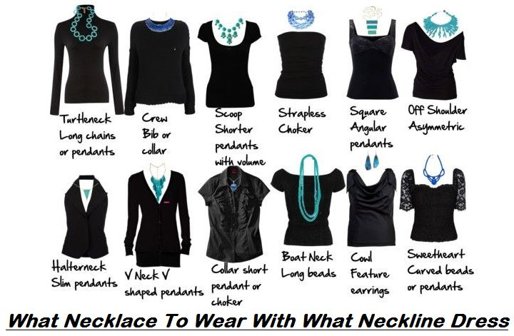 what necklace to wear with what neckline dress