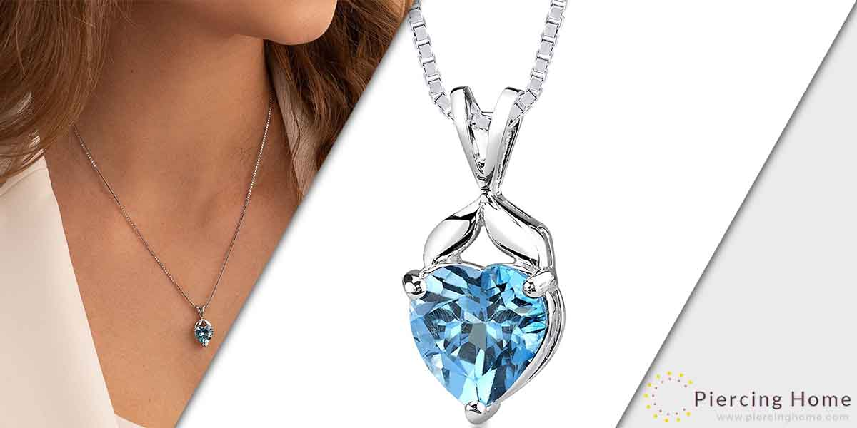 Peora Sterling Silver Heart Pendant Necklace