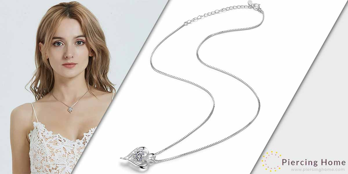 LAVUMO Heart Necklaces for Women