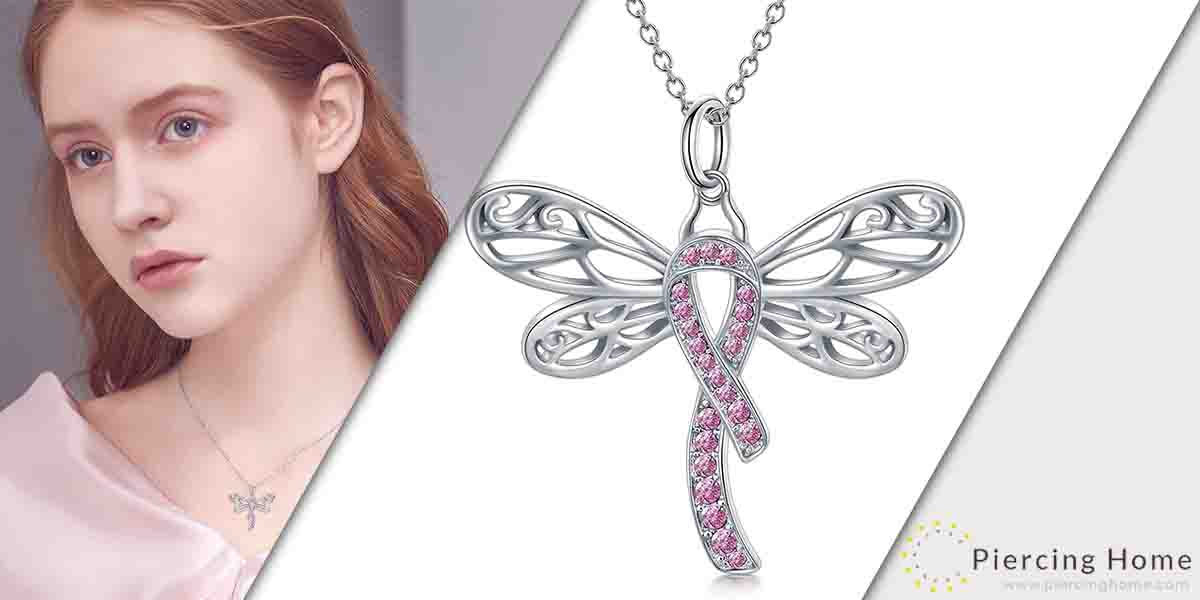 AOBOCO 925 Sterling Silver Breast Cancer Awareness