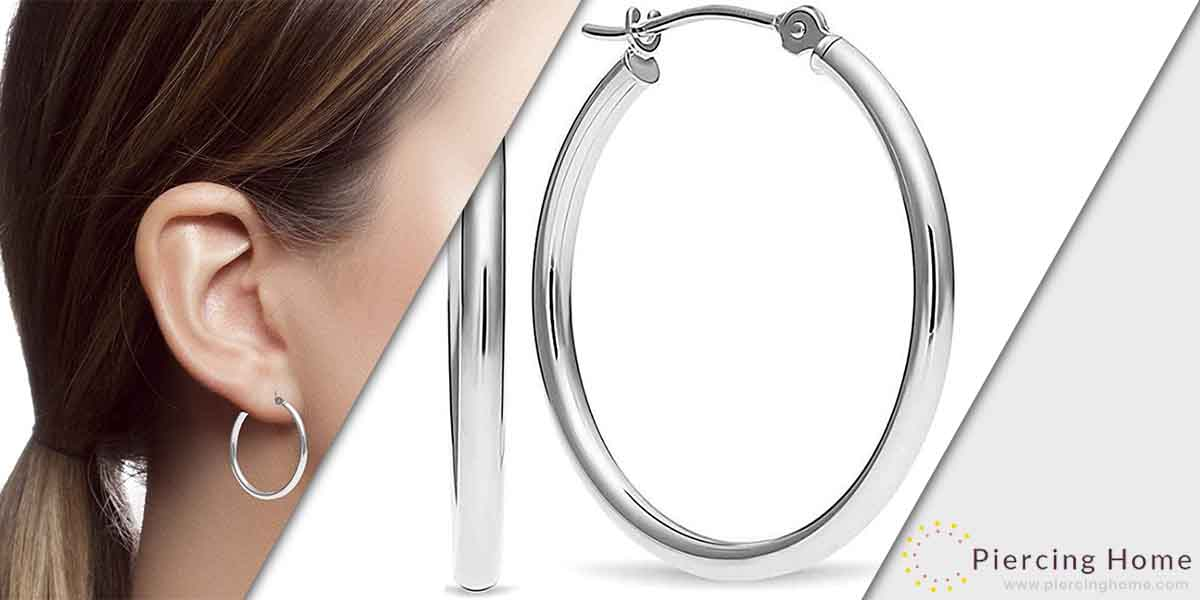 MAX + STONE 14k Real Gold Click-Top Round Hoop Earrings