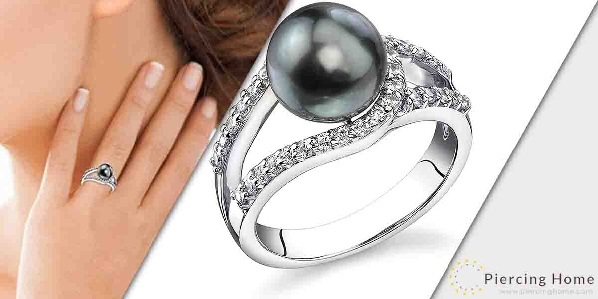 Tahitian South Sea Cultured Pearl Ring for Women