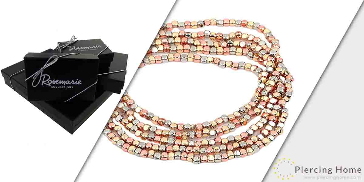 Rosemarie Collection Seed Bead Nugget Stretch Bracelet