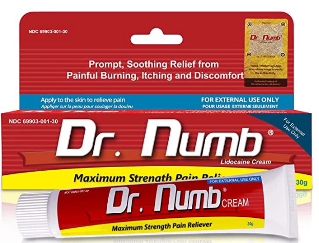 Dr. Numb 5% Lidocaine Topical Anesthetic Numbing Cream